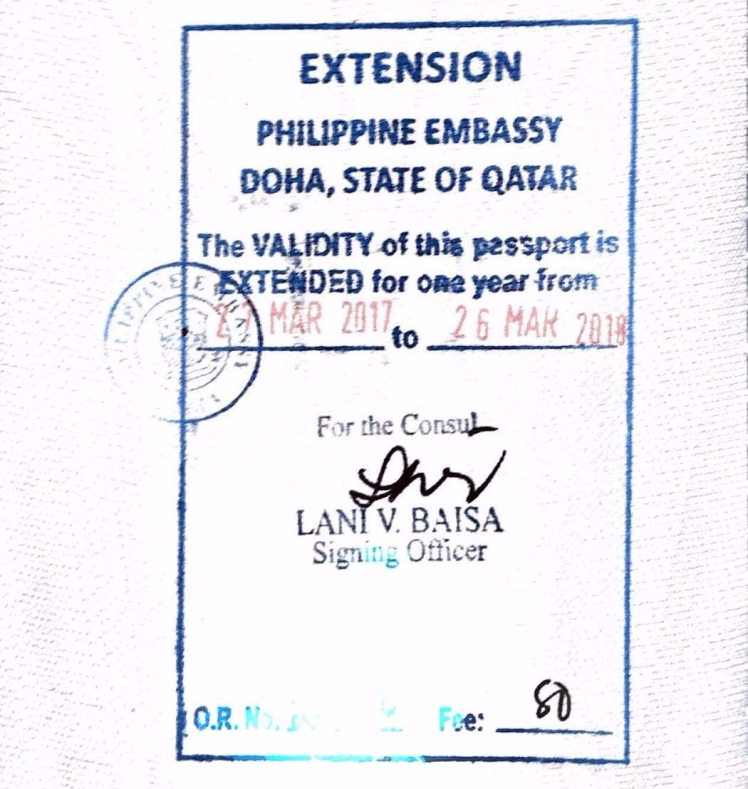 Philippine Embassy Doha Is Now Accepting Passport Validity Extension