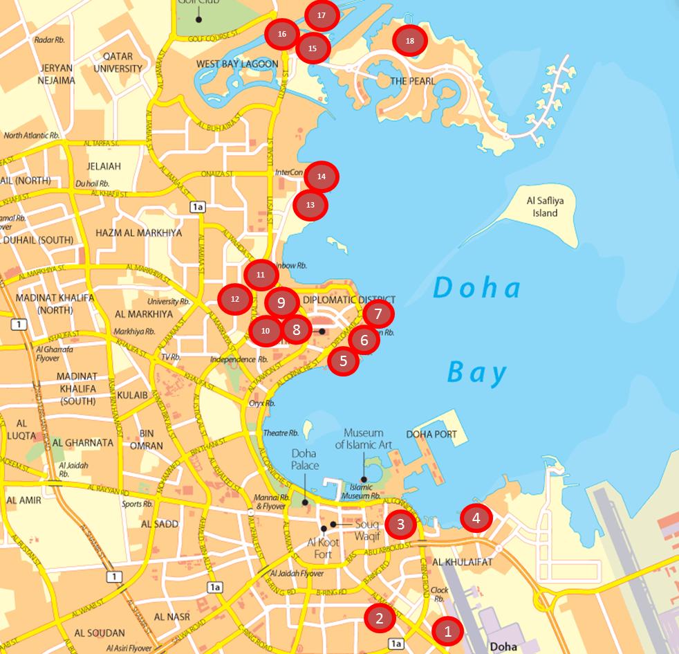 Doha Map - 18 Hotels.png