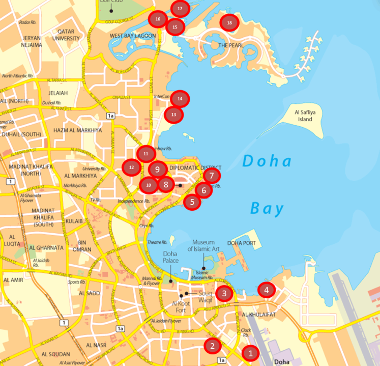Doha Map - 18 Hotels.png