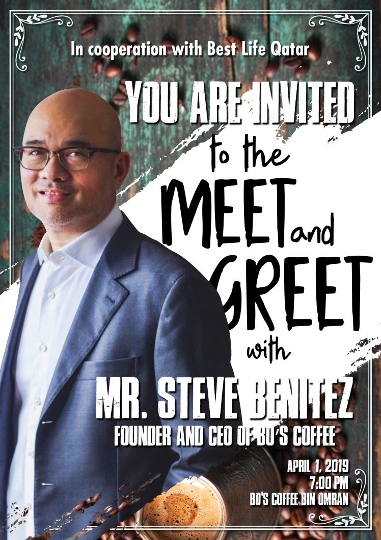 Invitation Poster - Meet and Greet with Mr. Steve